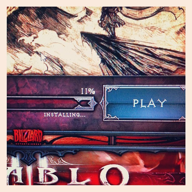 been waiting more than a decade for this #diablo3 #epic #rockfile  (Taken with instagram)