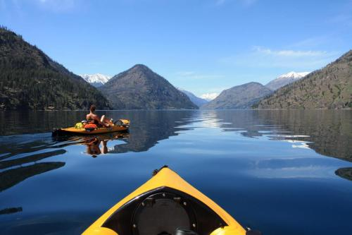 Exploring the far country by kayak.