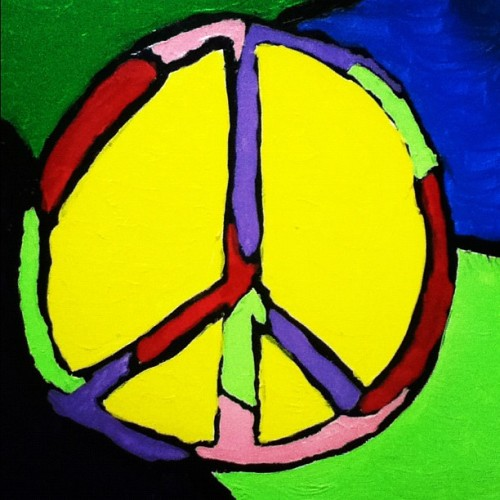Another painting for Prof Berry. #commission #art #paint #peace (Taken with instagram)