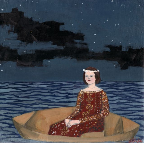 she hoped for something to finally break the silence by amanda blake art on Flickr.