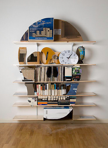 Skull Bookshelf Sculptures
