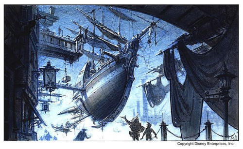 scurviesdisneyblog:  Treasure Planet Concept Art  look at dat STEAMPUNK SHIP