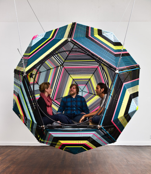 Geometric hammock museumoflatinamericanart:  Capula by Pedro Reyes will be on view along with other interactive installations in our upcoming exhibition Play With Me which opens on Sunday, June 17.