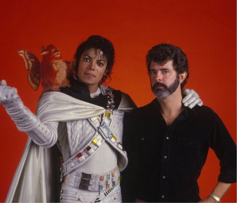 Behind-the-scenes of George Lucas, Michael Jackson in Captain EO