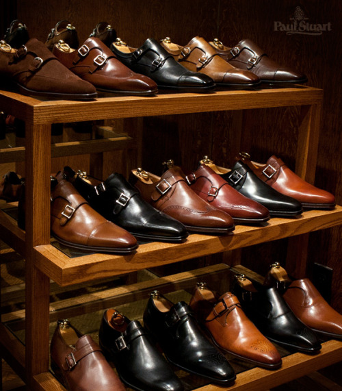 menofhabit:  paulstuartny:  An extensive collection of Monk Straps, only at Paul Stuart Shop the Collection  Monks on Monks on Monks.