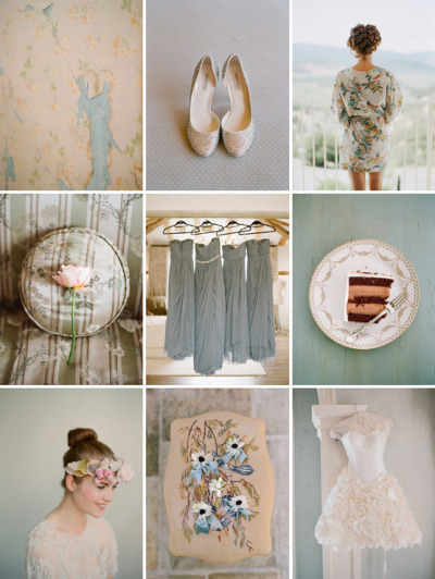 bride2be:  gorgeous pastel cream and blue color palette… photos by elizabeth messina