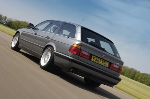 5-Star Touring It's difficult to imagine a more desirable everyday car than the 5-Series, well actually, it's not that difficult… Touring. The 5-Series Touring has been the fancy way to haul the kids and dog around for the past 30-years. Much like the 3-Series, Touring was not available on the model (E12). It was first available on a small number of E28 models. Second was the E34 5-Series Touring, which saw fit for an M5 version. As the first M-Power Touring BMW, it was only available with a manual transmission and RWD plus 350hp, it was truly the ultimate driving machine as the world's fastest production wagon at the time. The E39 was the 3rd Touring 5-Series and was not available as an M5. It was, however available with a V8 in the 540i Touring model. Its successor, the E61 was again available as an M5, outside of the U.S. of course. According to most recent reports, the newest 5-Series Touring (F11) will not see an M5 badge but no complaint here, because an Alpina B5 BiTurbo will be available, as seen in the last image. Photos via Bimmerforums, Garage36, M5Board, Ultimate Car Page, & Bimmerfile