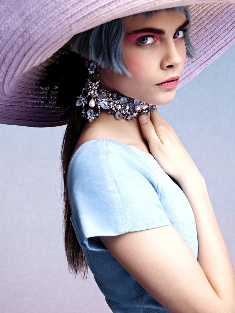 The Pinks and The Blues - Cara Delevingne for Chanel Cruise 2013 by Karl Lagerfeld