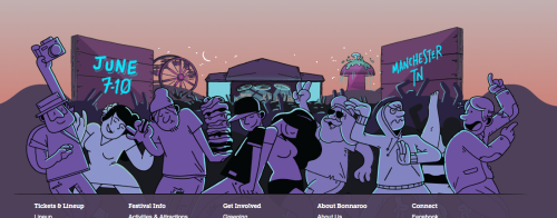 More interested in the design of the Bonnaroo 2012 page than the lineup (though, yeah, it looks good). And I knew the illustrations looked familiar.