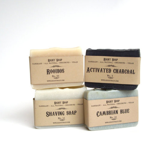 (via Fathers day Gift Set Men Soap set Vegan Soap by RightSoap on Etsy)