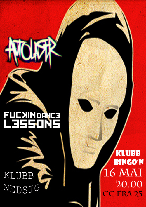Fuckin' Dance Lessons will be playing their last official gig in Lillehammer at Club Bingo'n the 16th of May supporting AutoLaser. It's gonna be an awesome night, so if you find yourself in the area you should drop by. The time: 21:00 CC: 50 NOK See you there!!