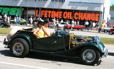 ANGLO-AMERICAN! British MG-TD powered by big American V-8. The only way to fly!