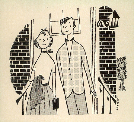 rogerwilkerson:  When Children Start Dating, illustration by Janet LaSalle