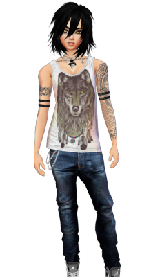 Me in IMVU. The game's boring as hell but building your character is fun.