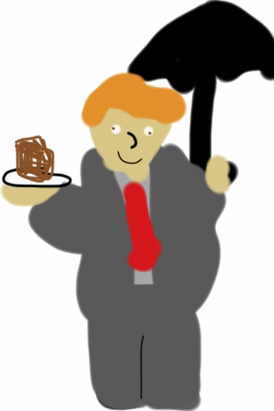 "I just drew this on my phone whilst in the bath, ok. Fat!Mycroft as Mary Poppins, accompanied by cake.. It's really bad I know but I find it pretty darn hilarious. Would someone be able to submit it for me? And if so, could the author note be ""I've now realised for the first time in my life that a fork full of cake helps the suicide of a sociopath brother go down."" It's a bit dark, isn't it? Oh well, at least I've done something x) sorry guys!  - Anna #1"