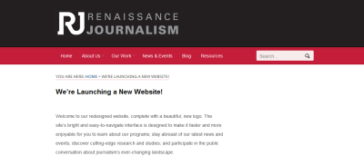"The New Renaissance Journalism Website If you're not already familiar, Renaissance Journalism, a program of San Francisco State University's Department of Journalism, is a great resource on the future of news (especially for those in the Bay Area). Also see their new media toolkit for curated tools and tutorials. Some new features include:   What's New? A new blog called ""Media Matters"" by Jon Funabiki, Renaissance Journalism's executive director, who weaves together insights from a career that spans journalism, philanthropy and academia. Bay Area Ethnic & Community Media Map: Based on a 2011 Renaissance Journalism survey, we've charted the more than 140 ethnic and community media organizations in the Bay Area. You can narrow down your search by primary language or search by a news outlet's name. Resources page, where we'll be posting studies, research and writings on media innovations—from Renaissance Journalism and other journalism and media organizations—as well as links to many of our partners' and collaborators' websites."