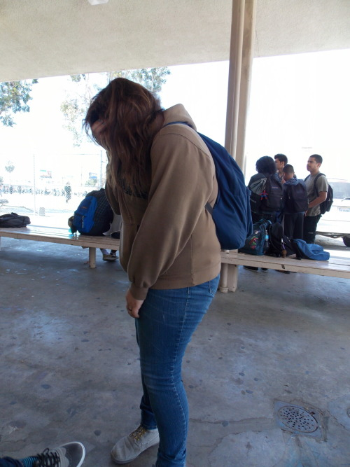 l3eetlejuice:  Just a normal day at school :p