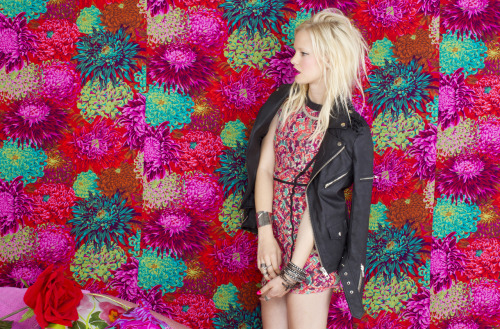 Fierce florals in affordable e-commerce site Nasty Gal's May look book.