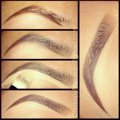 brokecollegestyle:  How to/The Angled, Shaped Brow  Be careful with this one! Make sure you're aiming for shaping them instead of drawing them on. It's great though, very Megan Fox.