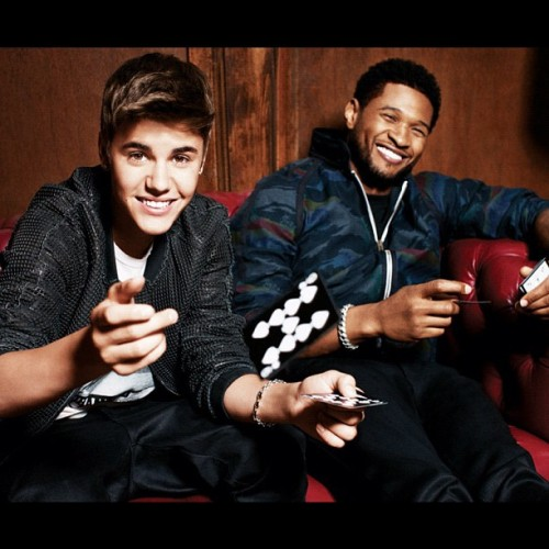 Another exclusive @justinbieber and @usherraymondiv exclusive shot from the BBMAS Magazine #justinbieber #usher (Taken with instagram)