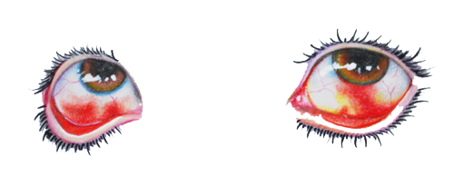 I WOULD JUST LIKE TO SAY THAT THESE ARE MY EYES. Someone has drawn them from a picture I have, I suppose.. lol and now this image has like 2300 notes.  Haha, my friend Rachel took this picture of my eyes almost 5 years ago after a crazy night out. HA. Internet, you are crazy. Who drew this??