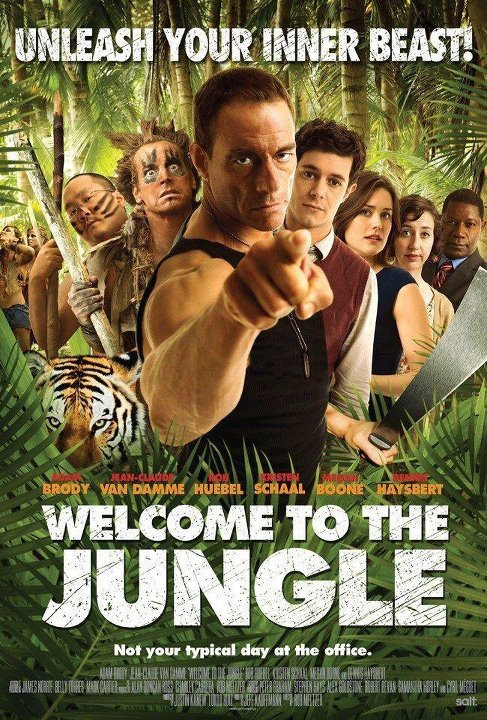 "First Poster for the comedy ""Welcome to the Jungle"", starring Jean Claude Van Damme and Adam Brody."