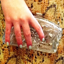 Look familiar? We're CLEARLY obsessed with Valentino's perspex clutch! (Taken with instagram)