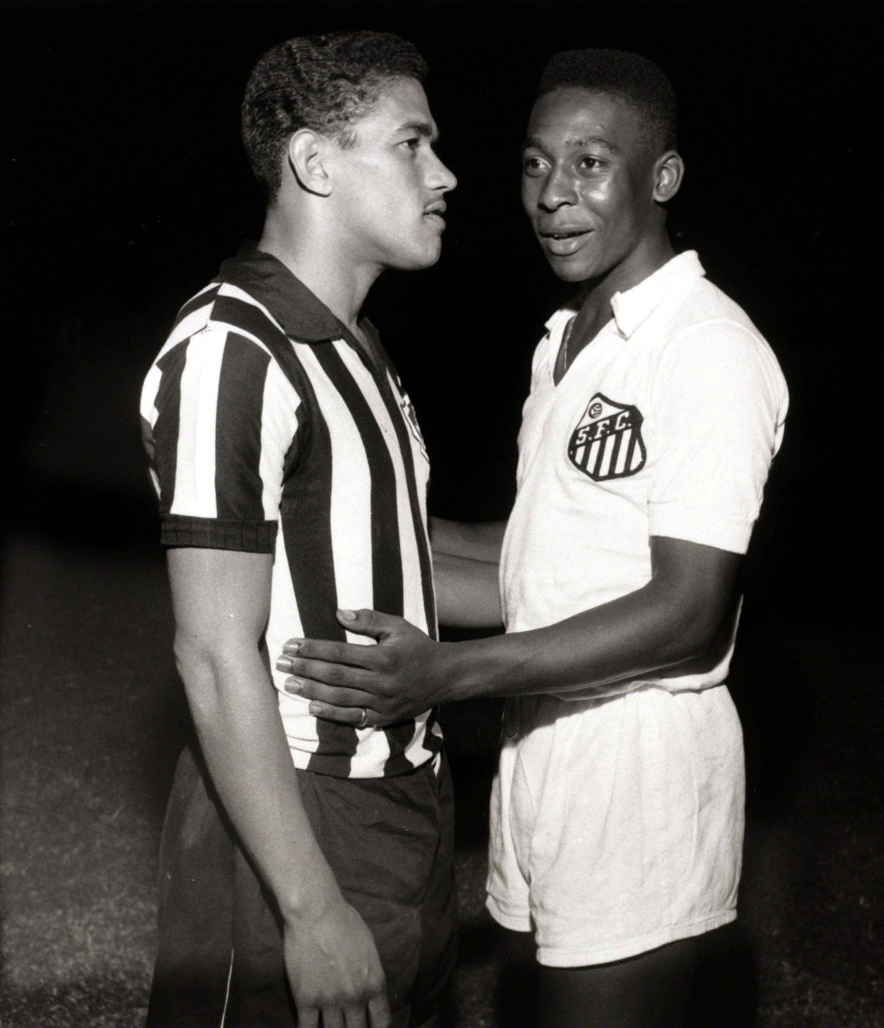 Pele and Garrincha, 1959.
