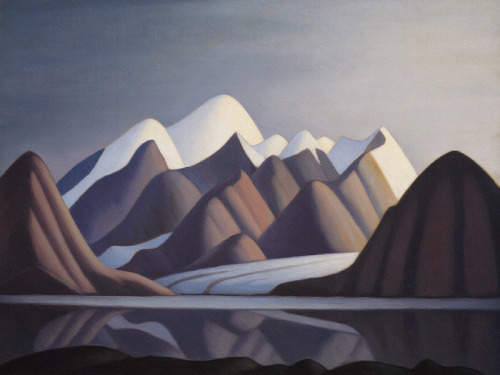 inwardinfinity:   Lawren Harris - Mount Thule Bylot Island  Solitude is like the rain. It rises from the sea to meet the evening; It rises from the dim, far-distant plain toward the sky, as by an old birthright. And thence falls on the city from the height. It falls like rain in that gray doubtful hour when all the streets are turning toward the dawn, and when those bodies, with all hope foregone of what they sought, are sorrowfully alone; and when all men, who hate each other, creep together in one common bed for sleep; then solitude flows onward with the rivers… Rainer Marie Rilke - Solitude