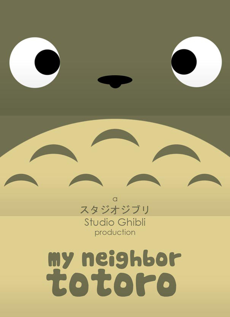 Hayao Miyazaki Minimalist Poster Collection Ok, the minimalist poster trend is already old for me BUT I do love Hayao Miyazaki (and when graphic design merges with things I love - like anime!)