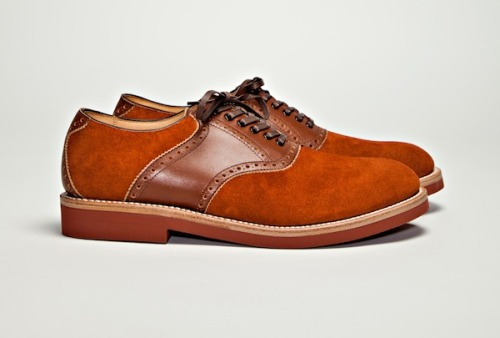 Hiroshi Tsubouchi Two Tone Saddle Shoe Brown