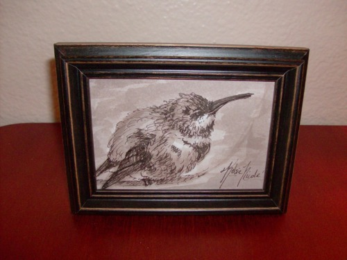 Finally got my birds framed and listed for sale in my etsy shop! Go to the link below if you'd like a cute little bird all your own! https://www.etsy.com/people/kelsieparker This particular bird has sold, however I can be commissioned to do a similar one upon request!