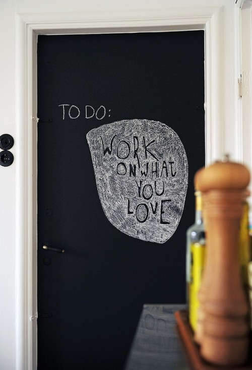 teachingliteracy:  myidealhome: chalkboard door appreciation (via emmas)