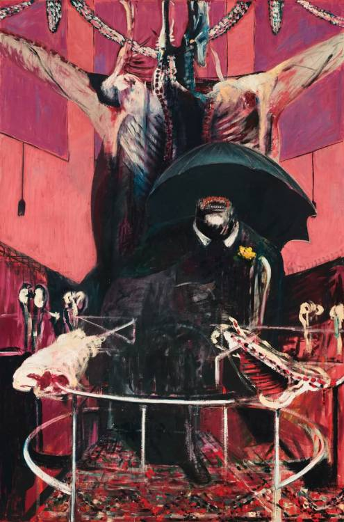 onces:  Head Surrounded By Sides of Beef. Francis Bacon
