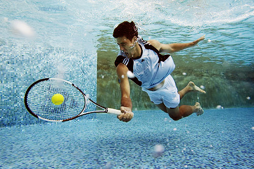 Novak Djokovic One Hundred Photos 3-100 Tennis Under Water