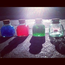 proud-to-be-hylian:  #Zelda #Bottled #Items $5 each or $15 for the set (Taken with instagram)