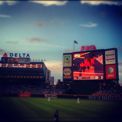 Go Braves!!! #popular #cnnireport #instagramer #instagramers #iphoneography #atlantabraves #art #iphone #photography #nature #photos #photooftheday #gmy #gmystudios #atlantabraves #baseball (Taken with instagram)