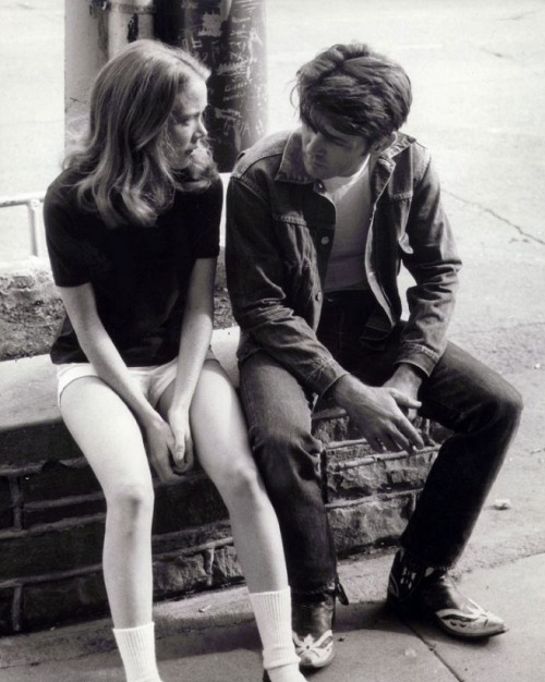 "Sissy Spacek & Martin Sheen on the set of Badlands (1973, dir. Terrence Malick) Sheen: ""One night I got a call saying that [Malick] decided to use me and would I be willing to do it. And I said, 'Why sure, I'd be happy as Larry'. [The next morning], I was driving along Pacific Coast Highway and I was listening to a Dylan song called Desolation Row..and suddenly it dawned on me what had just happened - that I had the role of my life. And I began to weep uncontrollably with joy and I had to pull off the side of the road and just stop and reflect on what was happening. And it was one of the most profound moments of my life because it was the realization of a dream that I never thought would happen to me."" Spacek:""It was a very passionate kind of working experience. No one was making any money and everyone was there because we were desperate to work on the film…It was probably the first film that I felt creatively engaged in. Terry would ask me questions about the character. I felt like I wasn't just an actor for hire…After working with Terry, I was like, 'The artist rules. Nothing else matters.' My career would have been very different if I hadn't had that experience."" (via)"