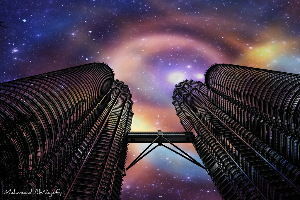 Towers in the Sky by ~P3rL-Saint