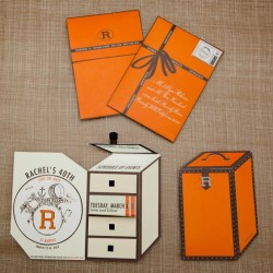 Hermès Inspired Save the Dates from Fete NY - One Kings Lane tomorrow: http://nonsensesensibility.com/blog/2012/05/jung-lee-and-josh-brooks-on-one-kings-lane/