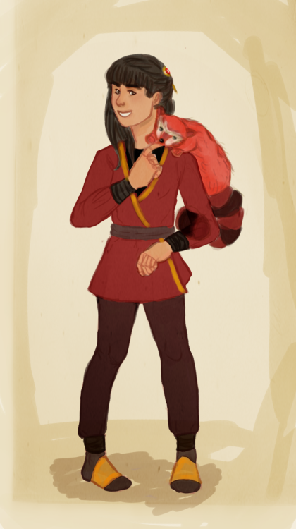 ppara-para-paradox:  so uhmm…Joy as a firebender!  I'm so sorry Joy. I'm a bad artist D: