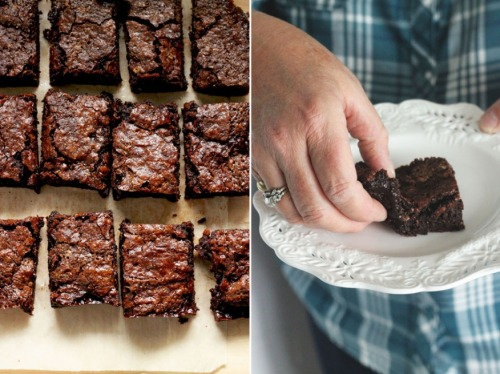 salted coconut caramel brownies from The First Mess
