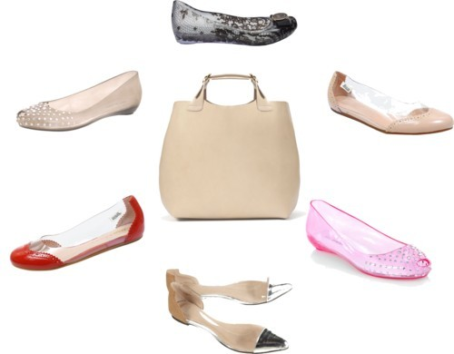 Clear flats at Every Price! by ischele featuring genuine leather handbagsBallerina flat, $109Ballerina flat, $109Melissa shoes, £89Clear shoes, $56Call it SPRING black studded pumps, £22Call it SPRING open toe pumps, £22Zara genuine leather handbag, $149