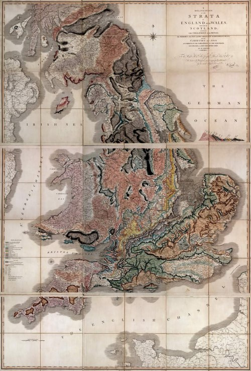 "How a map changed the world ""Created in 1815, the world's first geologic map measures 10 by 16 feet (3 by 5 meters) and illustrates the individual rock layers that underlie Great Britain. One of only two U.S. copies is now on public display for the first time at the Buffalo and Erie County Public Library in New York State."""
