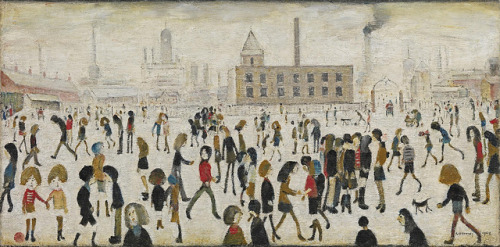 campsis:  Laurence Stephen Lowry - An Open Space [1968] by Gandalf's Gallery on Flickr.