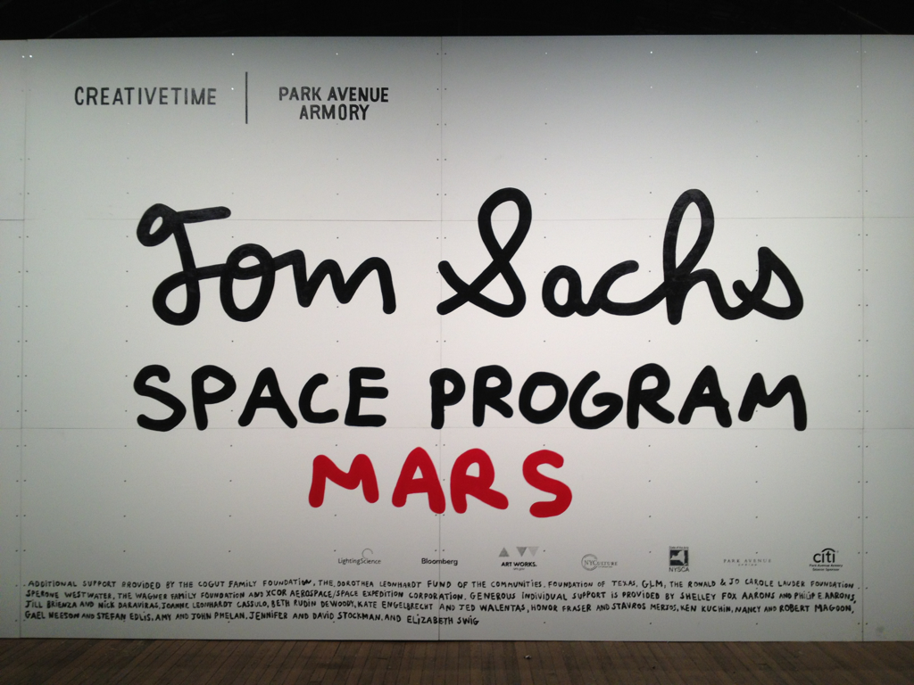 @Tom_Sachs space program: GO SEE IT AS SOON AS HUMANLY POSSIBLE