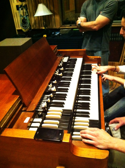 "The Hammond B3 organ used on the song ""Cardinal"" during For the Birds sessions at Fantasy Studios in Berkeley"