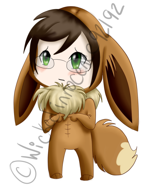 Alan Humphries Eeevee Chibi by ~Wickedinnocence92192  brain has literally exploded from this cute.