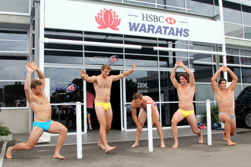 roscoe66:  HSBC Waratahs boys Dean Mumm, Damien Fitzpatrick, Pat McCutcheon, Jeremy Tilse and Nathan Trist strip for charity.