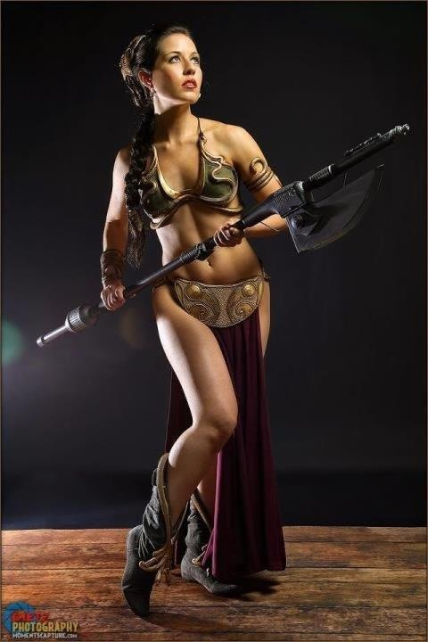 Slave Leia // by Scruffy Rebel   Once again, Victoria shows us why she's one of the best. Photo by Britt Diets.